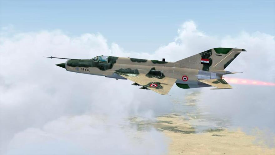 VIDEO. Fuerza aérea Siria destruye deposito de armas rebelde