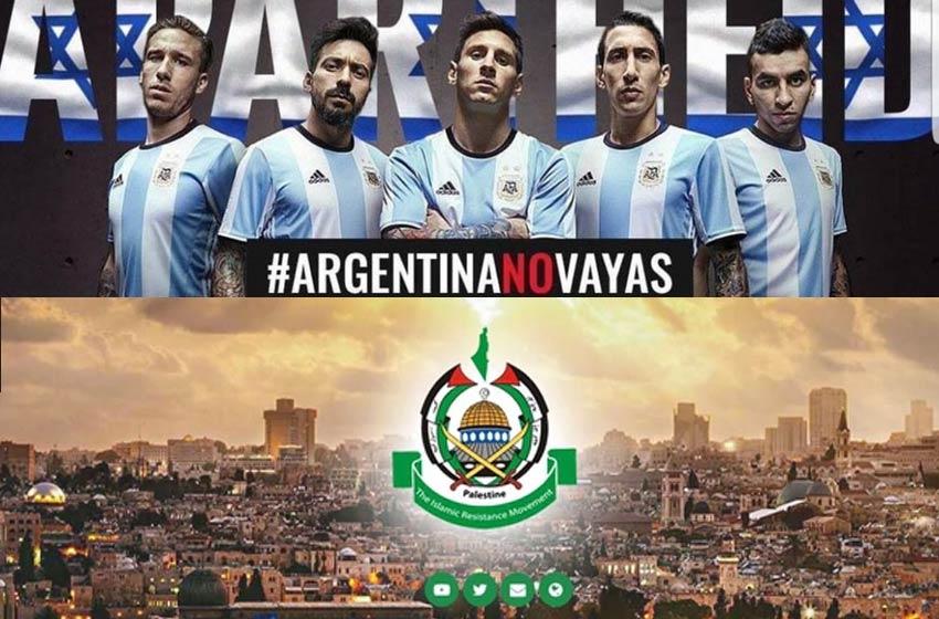 Hamas da sus felicitaciones a la selección de Argentina por cancelar el partido con Israel