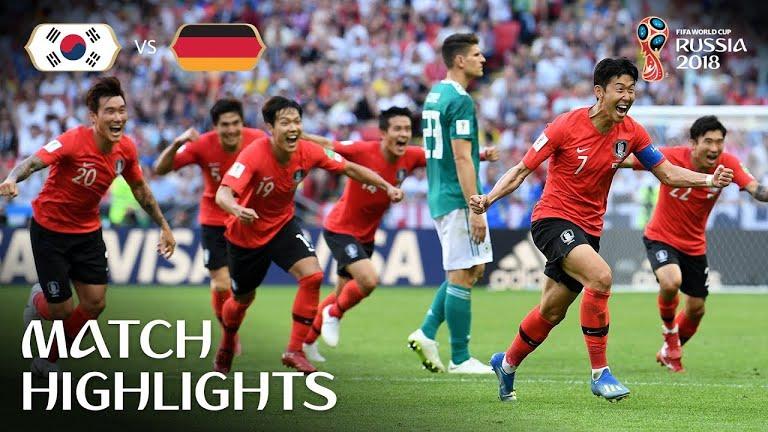 Corea del sur derrota y elimina a la campeona del mundo Alemania