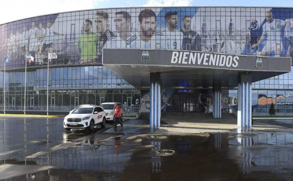 La selección argentina ya esta en Rusia lista para el mundial