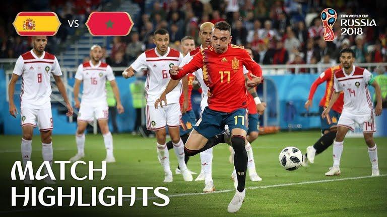 VÍDEO. España no puede con Marruecos y termina en empate  2- 2