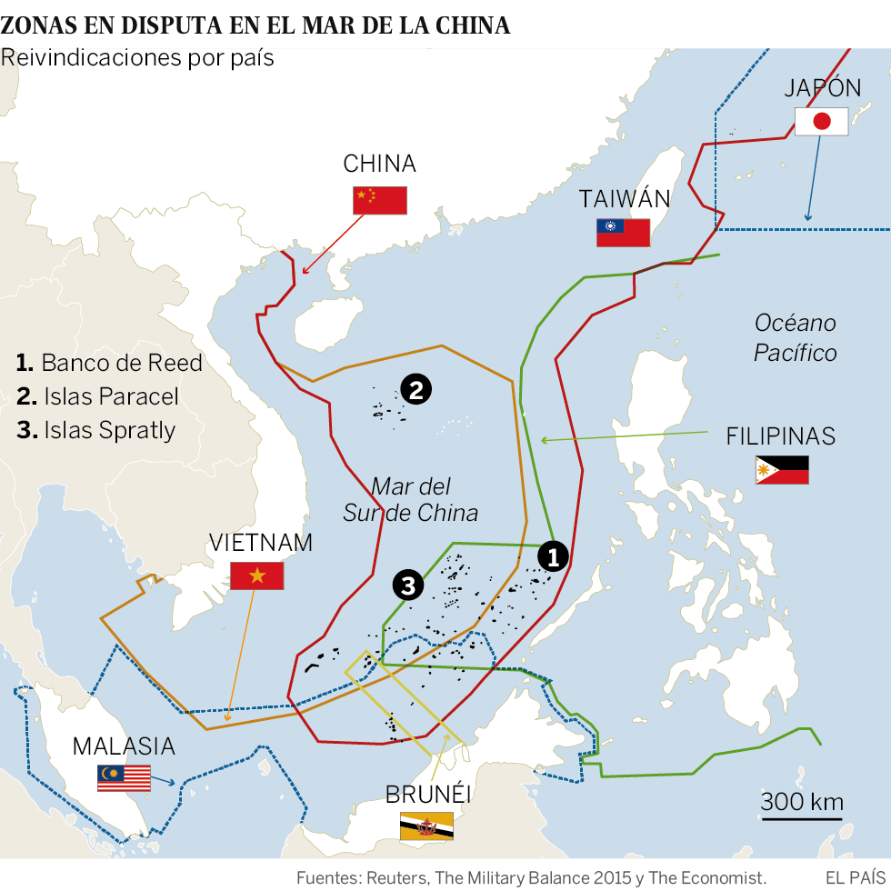 China no tiene miedo a EEUU ni a sus intenciones de ofensiva en el Mar del Sur
