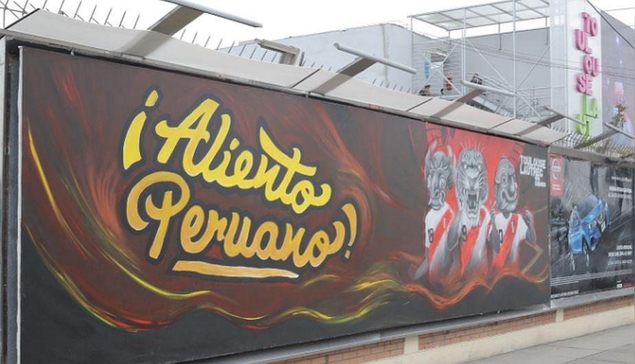 La emotiva pintura expuesta por estudiantes en apoyo a la selección de Perú