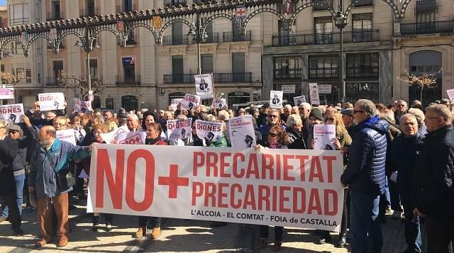 Pensionados Españoles Toman las calles y llegan al senado a defender sus derechos