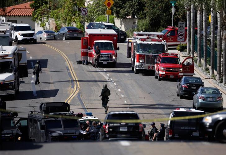 Registran violento tiroteo en San Diego. EEUU