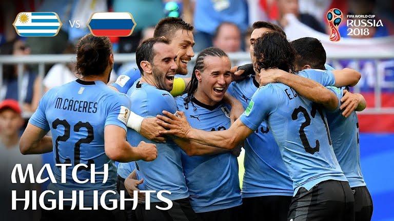 VÍDEO. Uruguay golea a Rusia 3-0 y se anota el primer lugar del grupo A