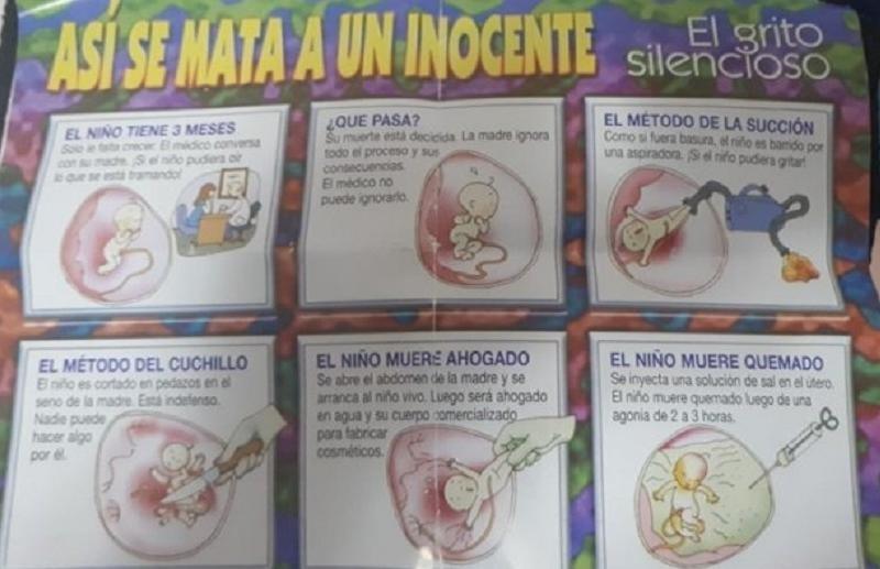 Fuerte polémica por la entrega de material anti aborto a niños en el Ministerio de Educación. Argentina