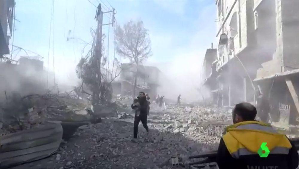 Bombardeo de fuerzas gubernamentales en el sur de Siria dejó ocho muertos