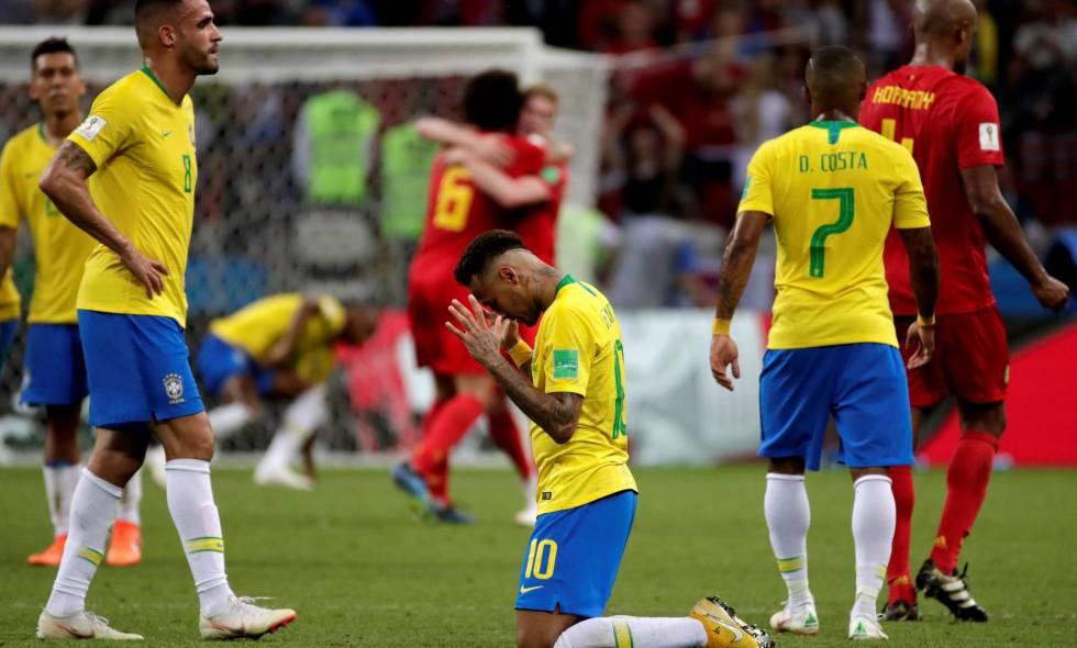 Brasil cae derrotada frente a Belgica 2-1 y ya no quedan latinoamericanos en el mundial