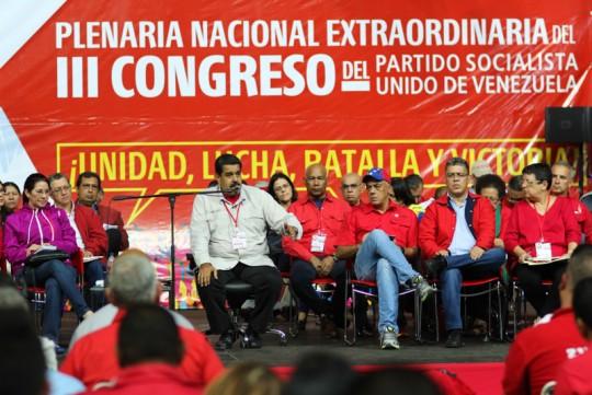 Congreso del partido gobernante venezolano PSUV. Analiza la situación económica