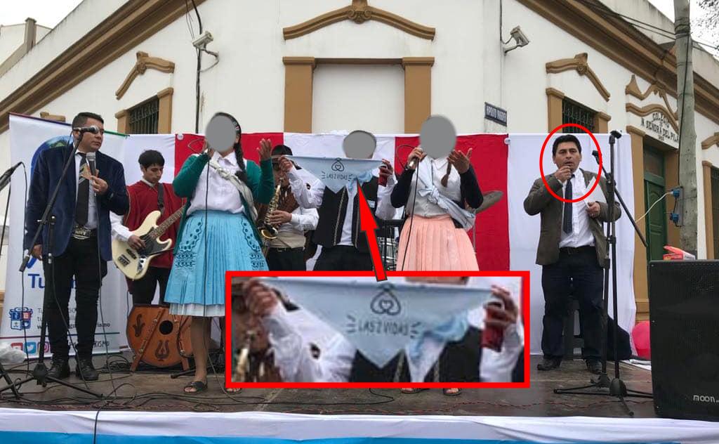 Argentina: Obligaron a un niño a sacarse foto con pañuelo contra el aborto en fiesta patria peruana de Pilar. VIDEO