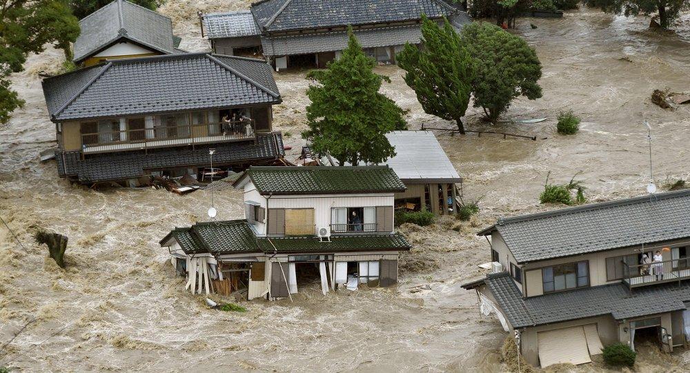 VÍDEO. Poderosas inundaciones en Japón dejan mas de 50 desaparecidos