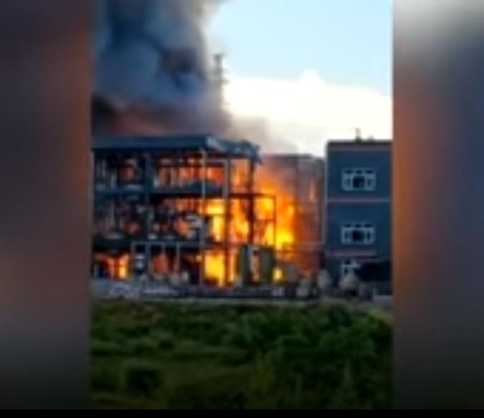 Explosión de planta química en China dejó aproximadamente 19 muertos