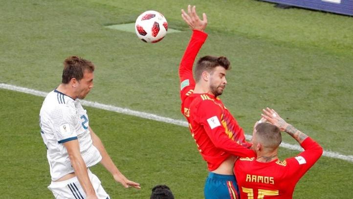Piqué creó lluvia de memes por el partido entre España y Rusia en el Mundial