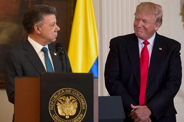 Santos pide la interferencia de Trump con Putin para que no apoye más a Maduro