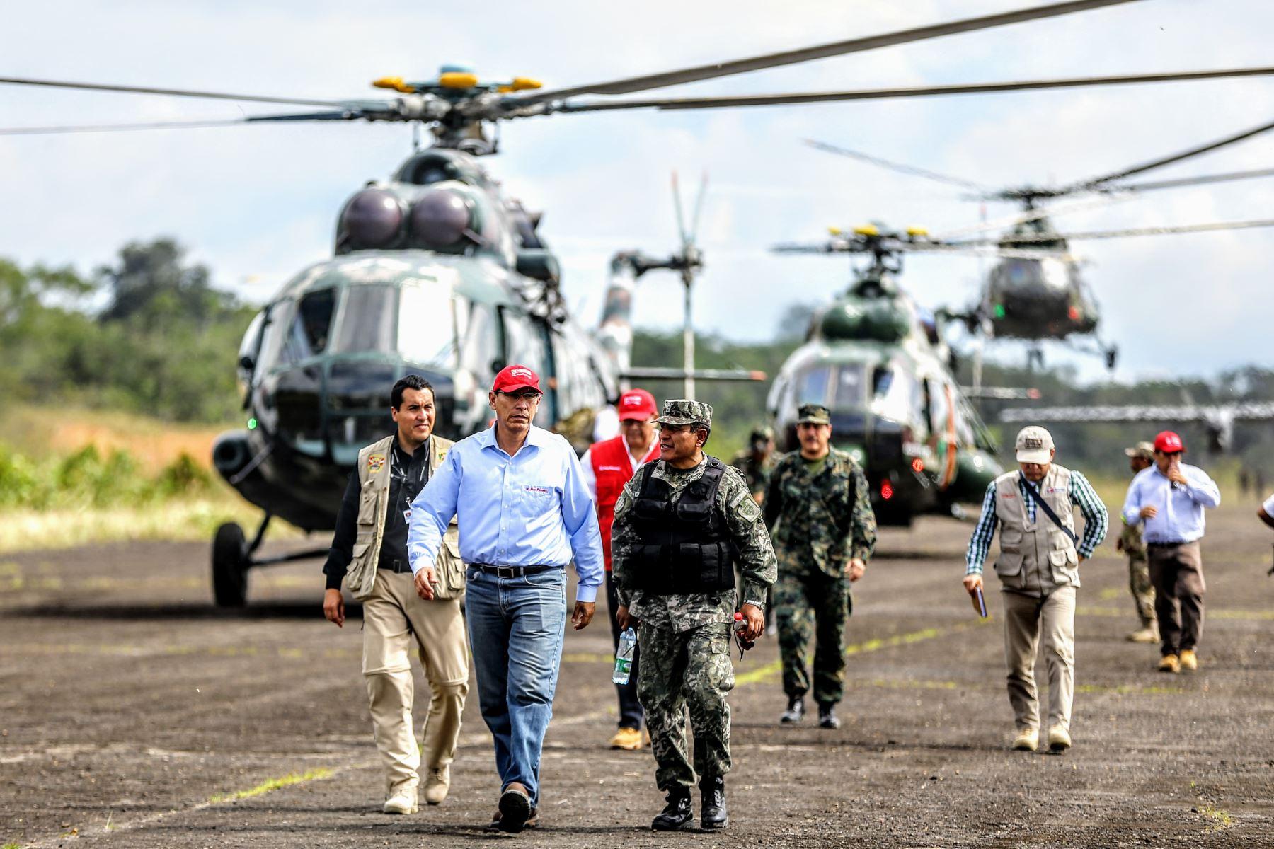 Vizcarra: dispuesto a destruir el narcotráfico y la corrupción