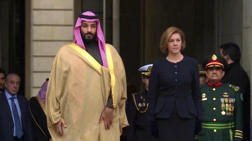 España acusada de alianza genocida con el régimen Saudí.