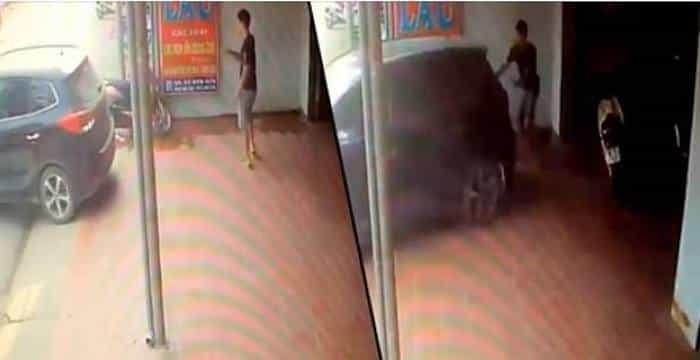 VIDEO. Buen samaritano es aplastado mientras ayudaba a mujer a estacionar su vehículo.