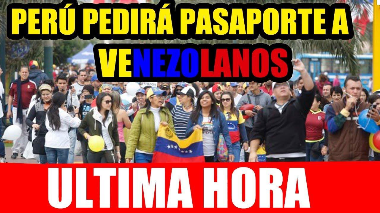VÍDEO. Perú le pedirá pasaporte a los migrantes venezolanos desde el 25 de Agosto.