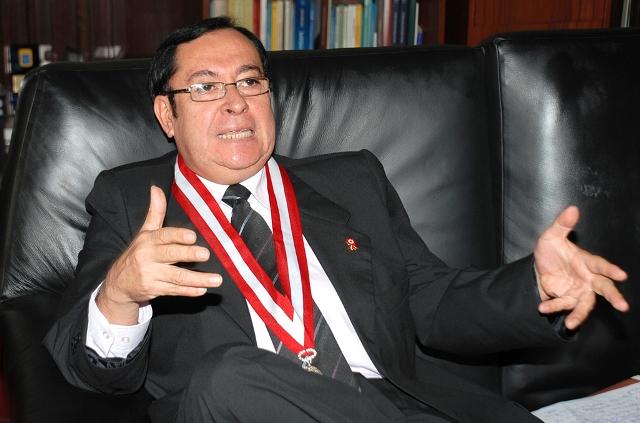 El presidente del PJ ratifica que no se pueden aceptar mentiras entre funcionarios del estado. Perú