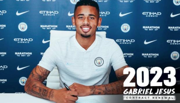 El Manchester City  renueva contrato de Gabriel Jesús para temporada.