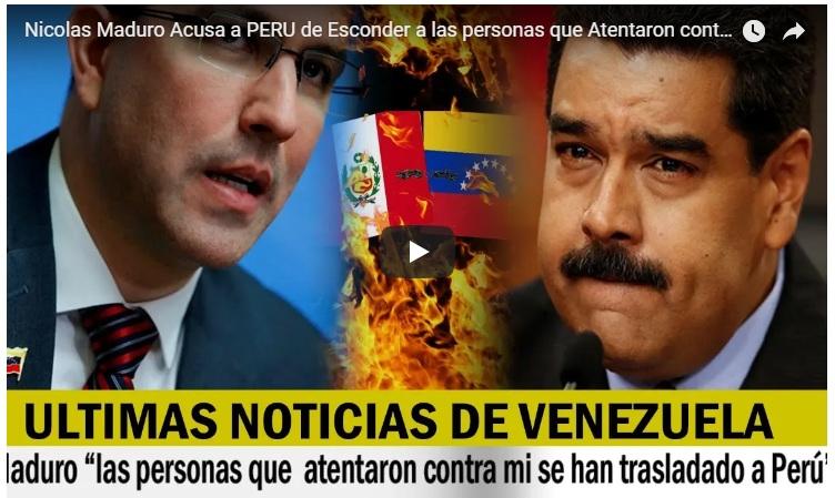 VÍDEO. Nicolás Maduro acusa a Perú de esconder y proteger a criminales que intentaron matarlo