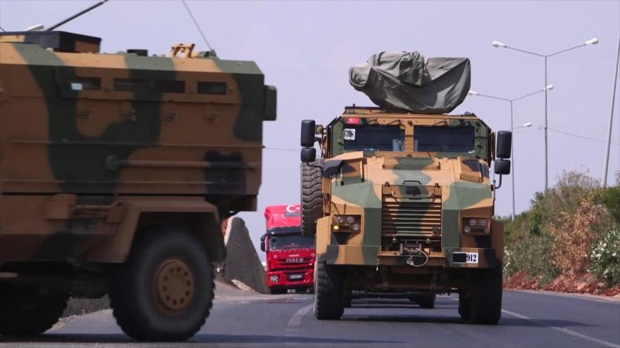 VIDEO: Turquía envía convoy militar a Idlib para evitar la masiva ofensiva Siria