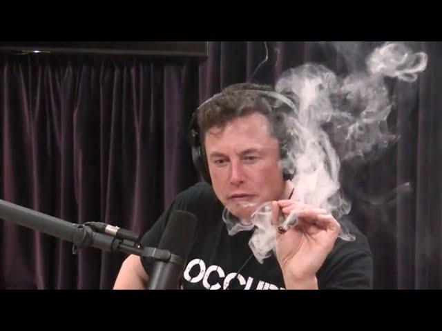 VIDEO. Elon Musk se prende un porro en una entrevista