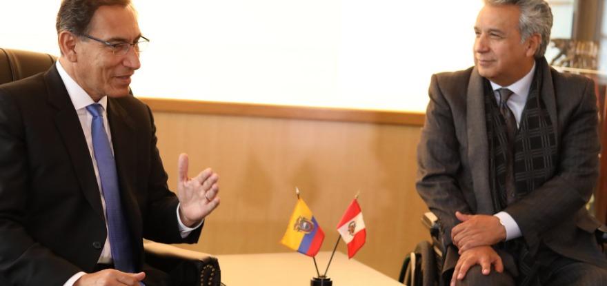 Vizcarra se reunió con los mandatarios de Ecuador y Colombia en su día de actividades en New York