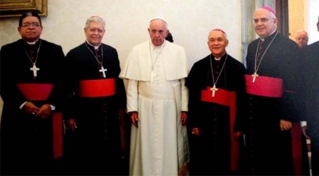 Obispos Venezolanos se reúnen  con el papa