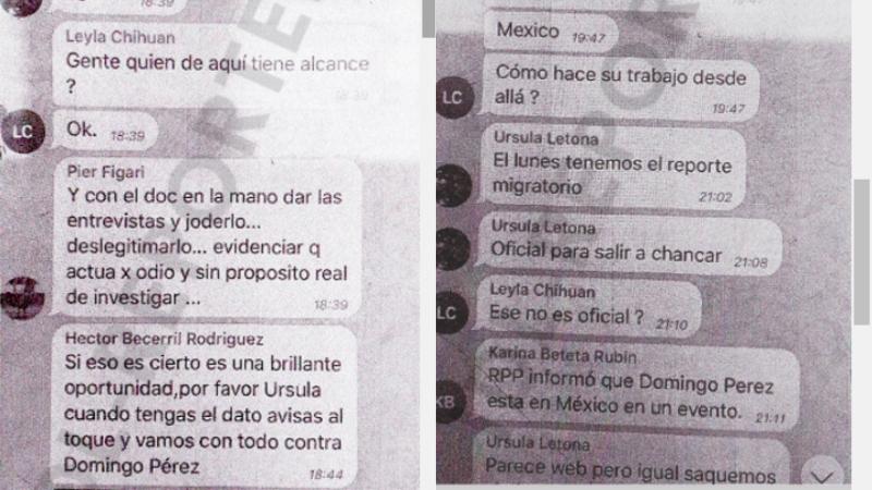 Peru. Son difundidas capturas de la supuesta conversación entre Domingo Pérez y Gustavo Gorriti