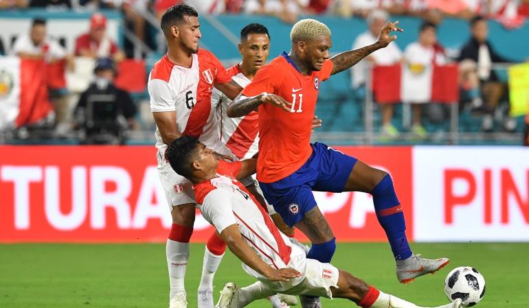 Perú golea 3 a 0 a Chile en amistoso internacional en Miami (Video)