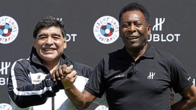 Pelé felicita a Maradona de forma sarcástica en su cumpleaños