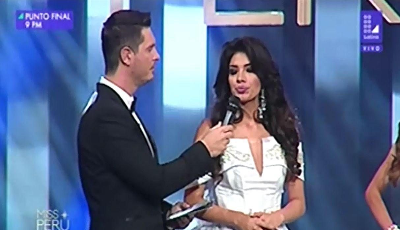 Peru. Miss Perú responde sobre lo que opina acerca de la corrupción en el país