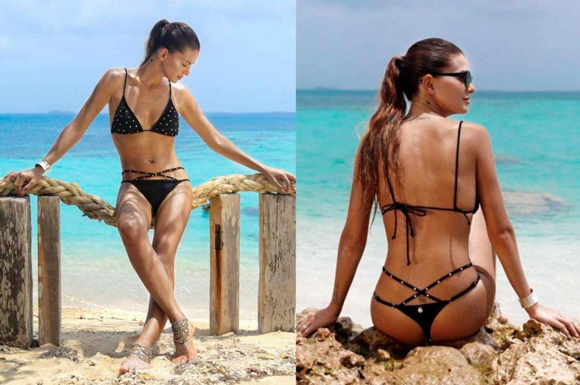 Fotos. La candente china Suárez deja  a todos perplejos subiendo unas sensuales fotos en la playa