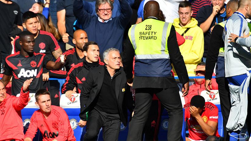 VIDEO. José Mourinho se pone frenético cuando le gritan gol en su cara