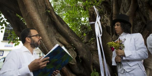 Buenos Aires: Peruano que se casa con árboles oficiará boda masiva entre personas y árboles de Palermo