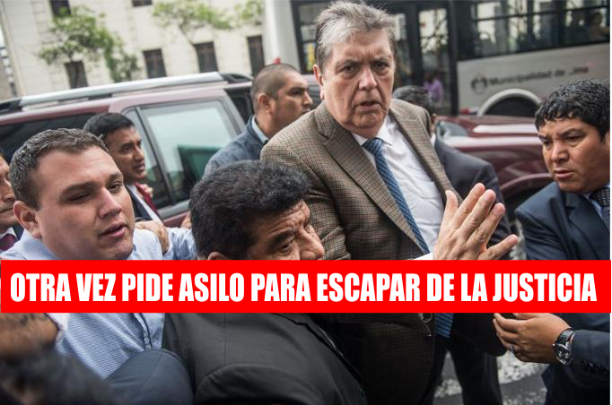 Alan García se refugia en la embajada de Uruguay, pide asilo y se declara perseguido político (VIDEOS)