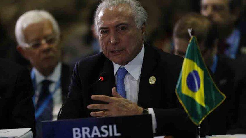 Temer garantiza transición tranquila en Brasil a Iberoamérica tras elección de Bolsonaro