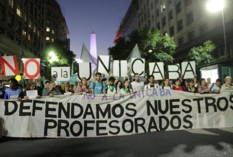 Argentina: Es convocada una nueva marcha de docentes y estudiantes en repudio a la Unicaba