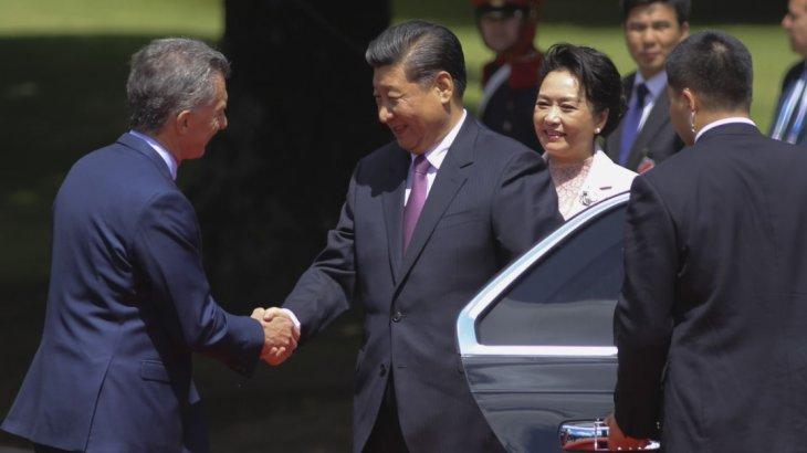 Mauricio Macri  presidente de Argentina y Xi Jinping presidente de China firmaron una serie acuerdos comerciales