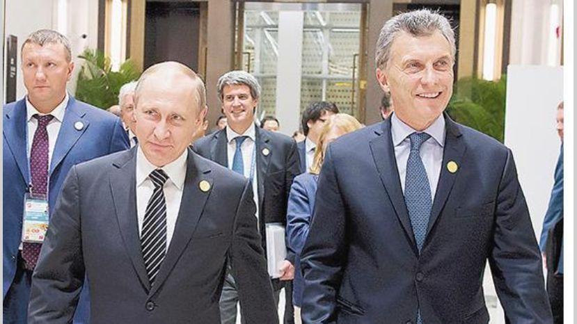 Macri y Putin acuerdan impulso de relaciones bilaterales