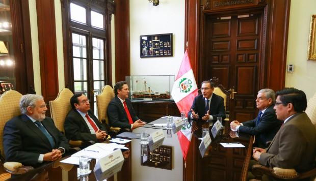 Presidente Marín Vizcarra se reunió con los presidentes del congreso con el fin de avanzar  en la implementación de las reformas