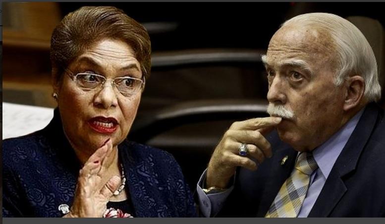 Luz Salgado. defiende frenéticamente a Carlos Tubino es un honorable congresista