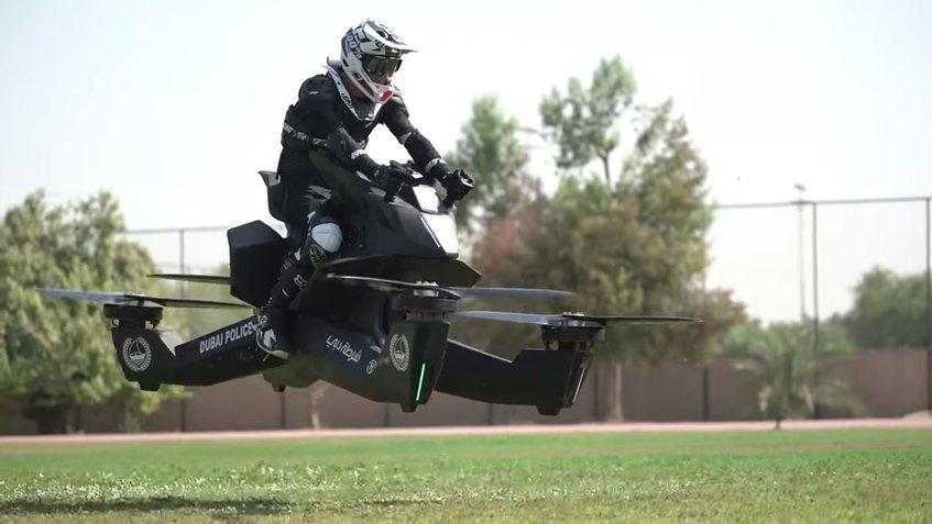 La impresionante moto voladora que ahora tiene la policía de Dubay