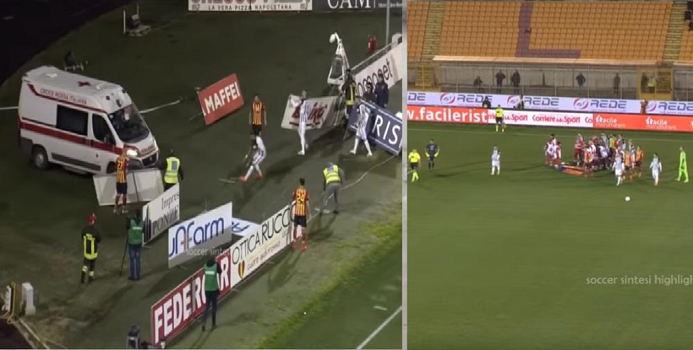 Futbolista pierde el conocimiento en un durísimo choque y suspenden el partido