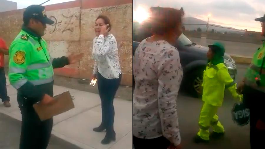 VIDEO: Agrede fuertemente a un humilde vigía y luego se hace la víctima ante la policía y llora. Perú