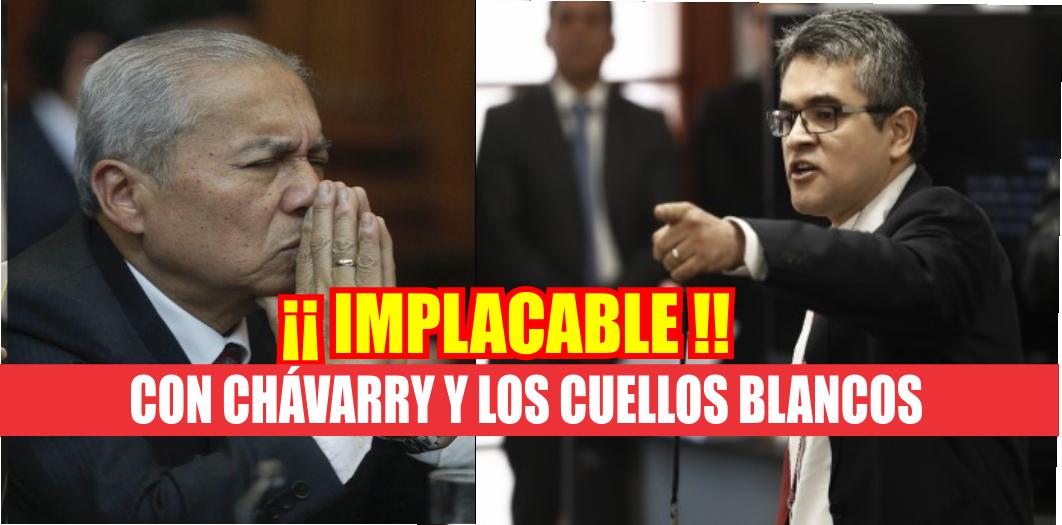 """Fiscal Domingo Pérez """"Basta ya que nos crean ingenuos, los cuellos blancos no son una realidad inventada"""" VIDEO"""