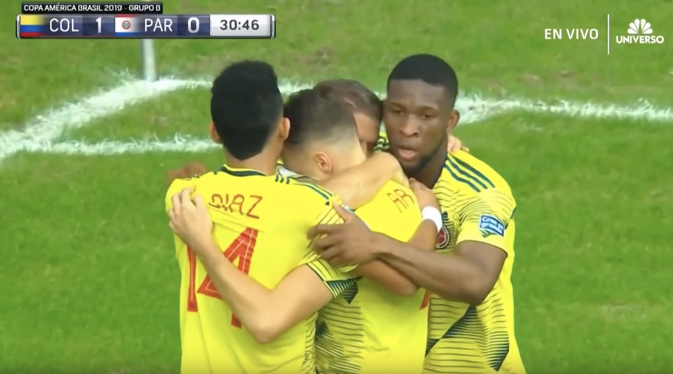 Colombia más líder que nunca al ganarle 1-0 a Paraguay
