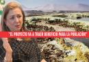 Tía María. Para la presidenta de la CONFIEP la mina no envenena el agua del río. Video